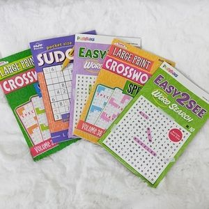 FIVE Assorted Puzzle Books